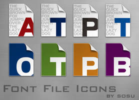 Font File Icons by sosu2357