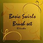 Basic swirl brush set 1