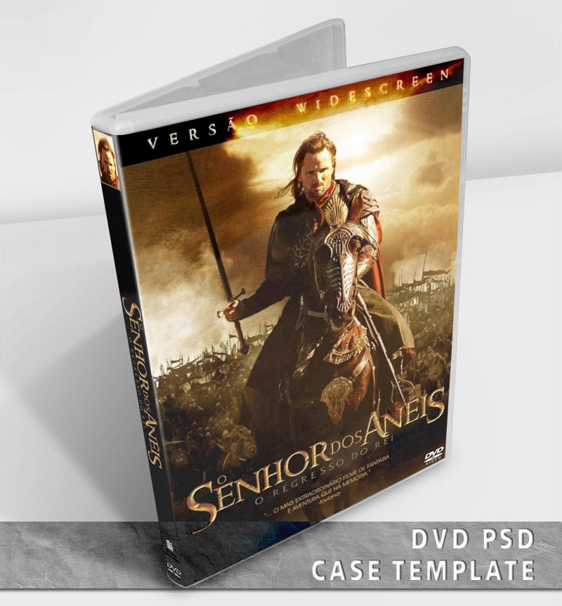 DVD Case Template – PSD 20 Free CD & DVD Cases PSD Templates