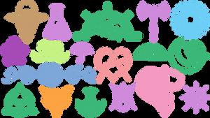 MOGAI symbols and such Custom Shapes (CSH file)