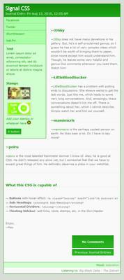 Signal CSS - Green
