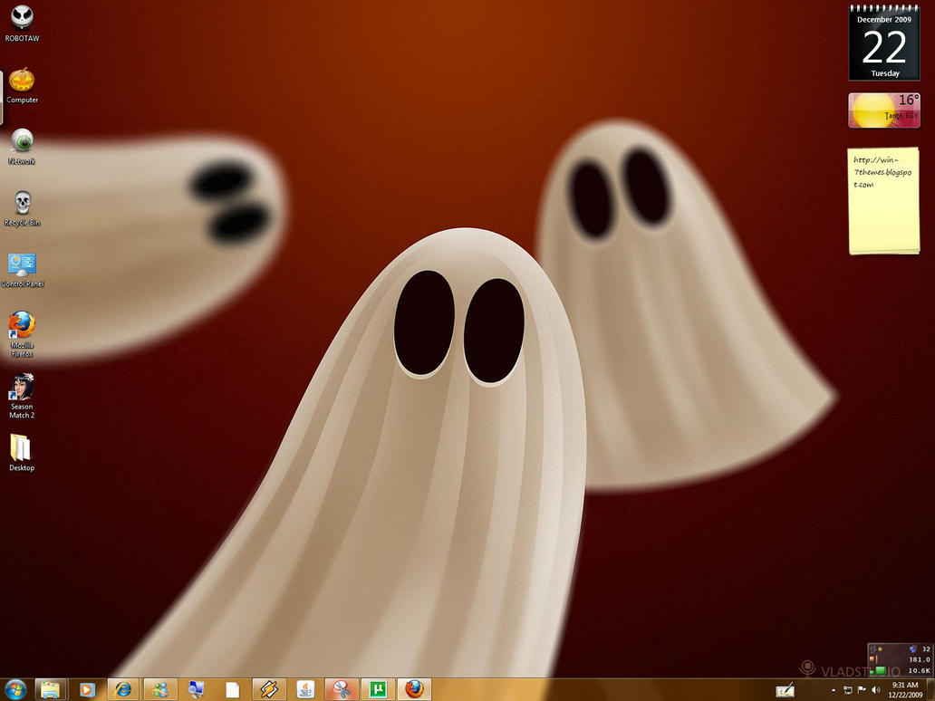 Halloween Windows 7 Theme by yonited