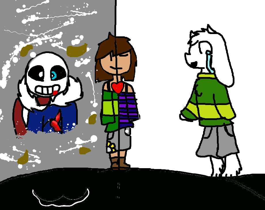Undertale(Chara and frisk) by Flower-Frisk