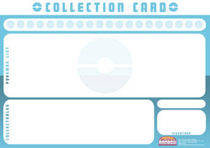Collection Card Template