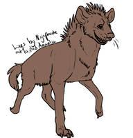 Free Hyena Lineart Collab by NinjaPancake