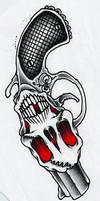 Skull Revolver Vector by Justflikwalk