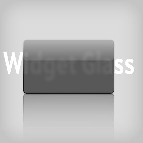 Widget Glass PSD by Justflikwalk