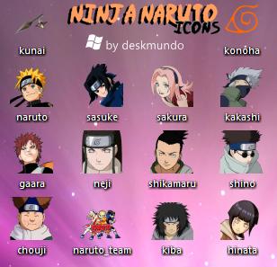 Ninja Naruto Icons by deskmundo