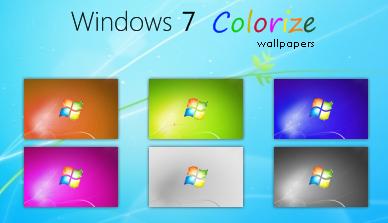 Windows 7 Colorize wallpapers by deskmundo Windows 7 Masaüstü Arkaplanı Resimleri
