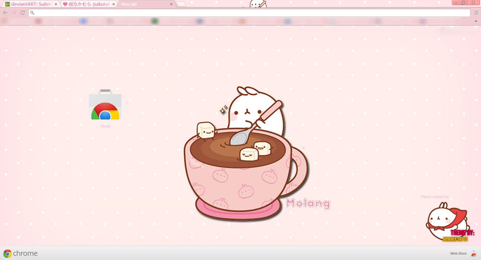 Google themes kawaii -  Molang Kawaii And Simple Theme For Chrome By Akanekyatto