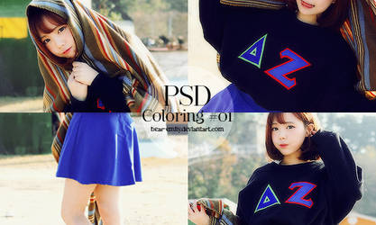 PSD Coloring #01 - Black and Blue