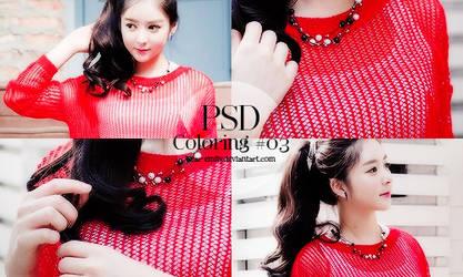 PSD Coloring #03 - Black and Red