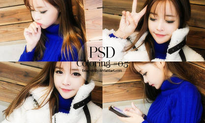 PSD Coloring #05 - Black and Blue