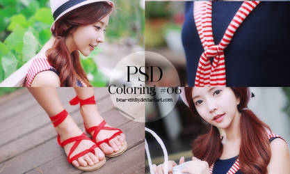 PSD Coloring #06 - Blue, Red and Green