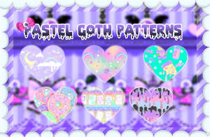 Pastel Goth Patterns PS - LunaOfColors by LunaOfColors
