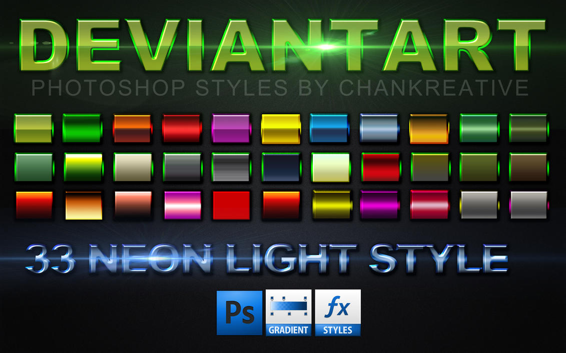 33 Neon Border Photoshop Style By Chankreative ...