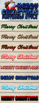 Merry Christmas Photoshop Style by Chankreative