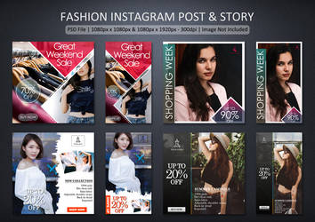 Fashion Instagram Post and Story by Chankreative