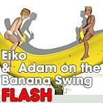 Flash: Eiko and Adam on Banana by anthony-art