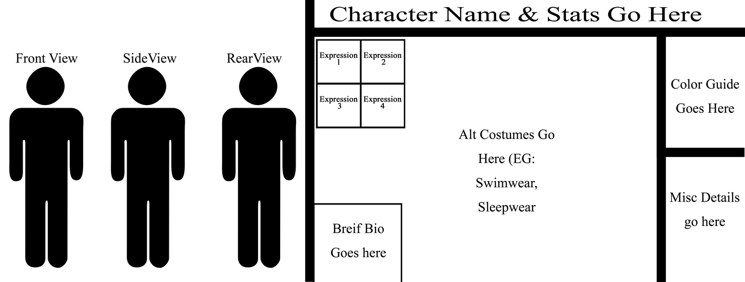 character model template