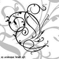 Arabesque Brushes by Luizalenora