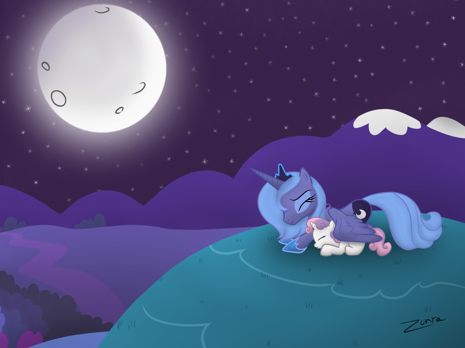 Singing to the Moon Wallpapers by Zonra