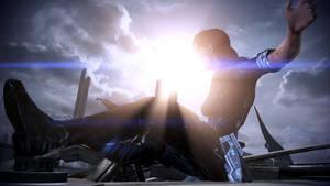 ME3: Commander (F) Shepard Leaps Into Action