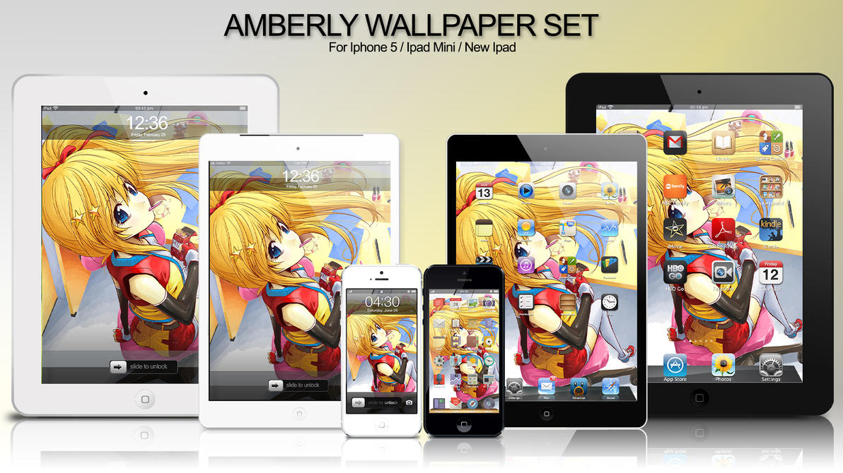 amberly i series wallpaper by panom on deviantart. Black Bedroom Furniture Sets. Home Design Ideas