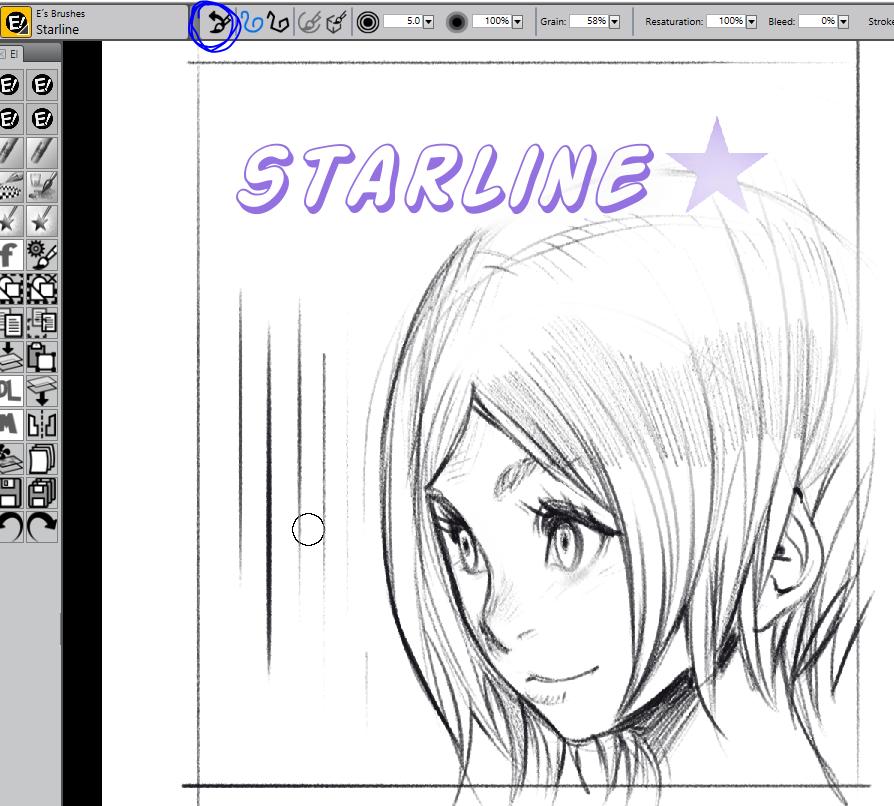 Starline Brush Corel Painter X3 by elsevilla