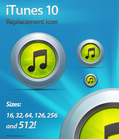 iTunes 10 Replacement Icon A by deelo