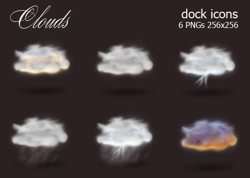 Clouds Dock Icons