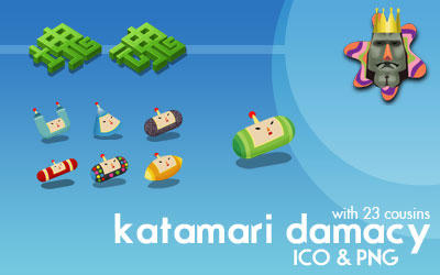 Katamari Damacy Dock Icons by deelo