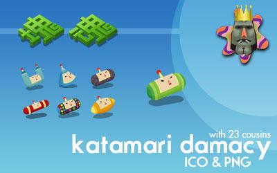 Katamari Damacy Dock Icons by deelo