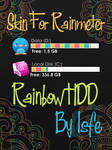 Skin for Rainmeter Rainbow HDD