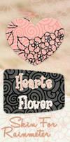 Skin for Rainmeter Clock HeartFlower