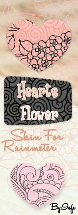 Skin for Rainmeter Clock HeartFlower by Isfe