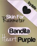 Bandita Heart Purple by isfe skin for rainmeter