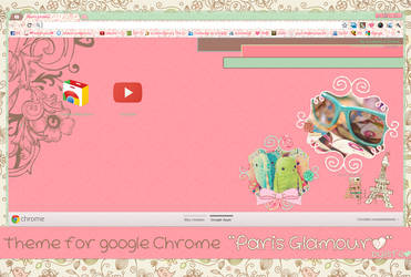Theme For Google Chrome PARIS GLAMOUR by isfe by Isfe