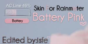 Skin For Rainmeter Battery Pink