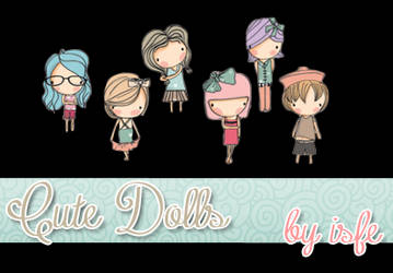 Cute Dolls png By isfe