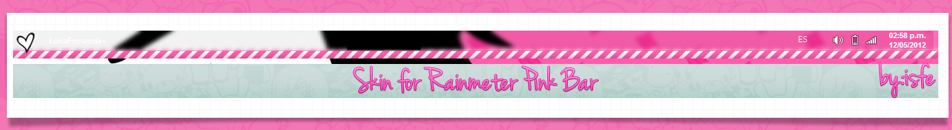Skin For Rainmeter PinkBar by Isfe