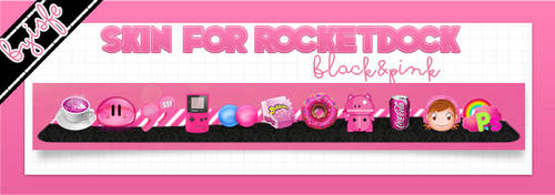 Skin For RocketDock Black And Pink by Isfe