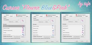 Cursor Flower Blue y Pink by isfe