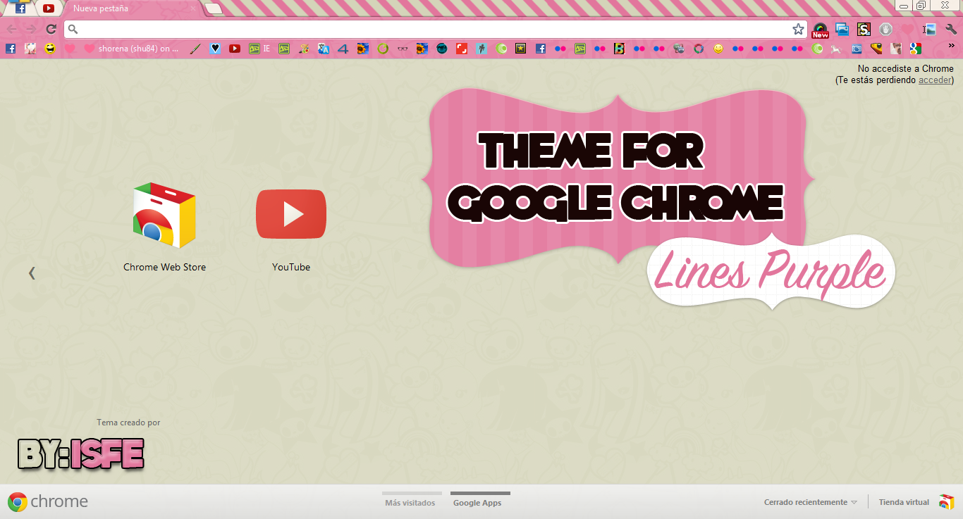 Theme For Google Chrome Puple Lines by Isfe