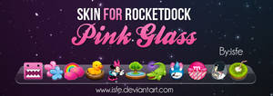Skin for rocketdock Pink Glass