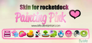 Skin for rocketdock Painting pink