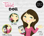 Tablet Doll (.PSD)