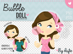 Bubble Doll .PSD / .PNG By Isfe