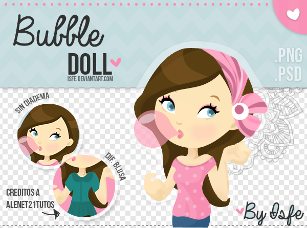 Bubble Doll .PSD / .PNG By Isfe by Isfe