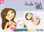 Smile Pink Doll (PSD/PNG)
